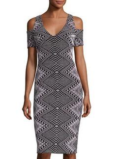 Nicole Miller New York Cold-Shoulder Short Dress