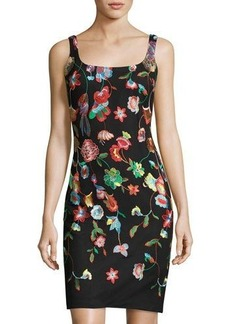 Nicole Miller New York Embroidered Body-Con Dress