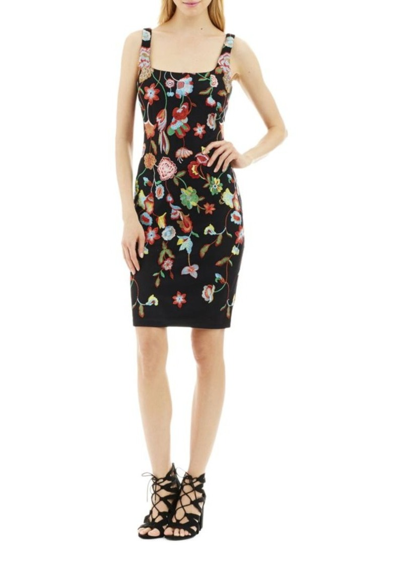 d462d7db17 Nicole Miller Nicole Miller New York Embroidered Bodycon Dress