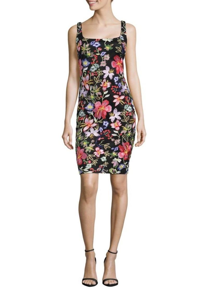 4920d2642c Nicole Miller Nicole Miller New York Floral Embroidered Sheath Dress ...