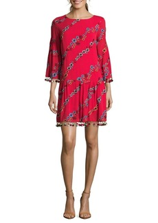 Nicole Miller New York Embroidered Floral Shift Dress