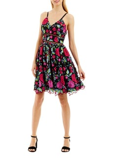 Nicole Miller New York Embroidered Scalloped Dress