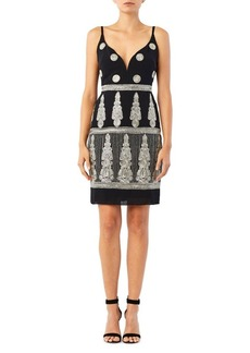 Nicole Miller New York Enchanted Embroidered Mini Dress