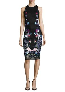 Nicole Miller New York Floral Embroidered Sheath Dress