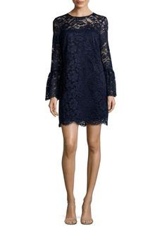 Nicole Miller New York Floral Lace Mini Dress