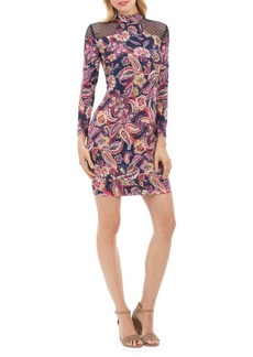 Nicole Miller New York Floral Long-Sleeve Bodycon Dress