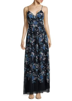 Nicole Miller New York Floral Pleated Dress