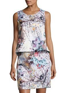 Nicole Miller New York Floral-Print Popover Short Dress