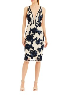 Nicole Miller New York Floral Sleeveless Cocktail Dress