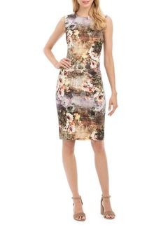 Nicole Miller New York Floral Sleeveless Sheath Dress