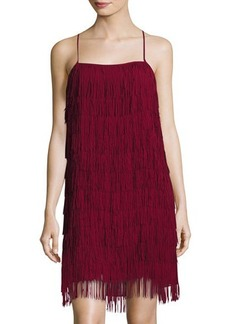 Nicole Miller New York Fringe Sleeveless Party Dress