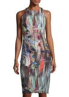 Nicole Miller New York Graphic-Print Sleeveless Sheath Dress