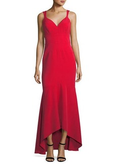 Nicole Miller New York High-Low Trumpet Evening Gown