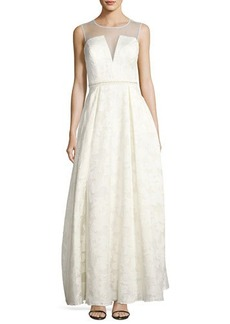 Nicole Miller New York beaded jaquard gown