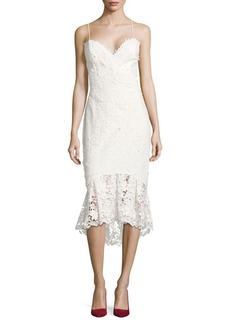 Nicole Miller Lace Fit and Flare Dress