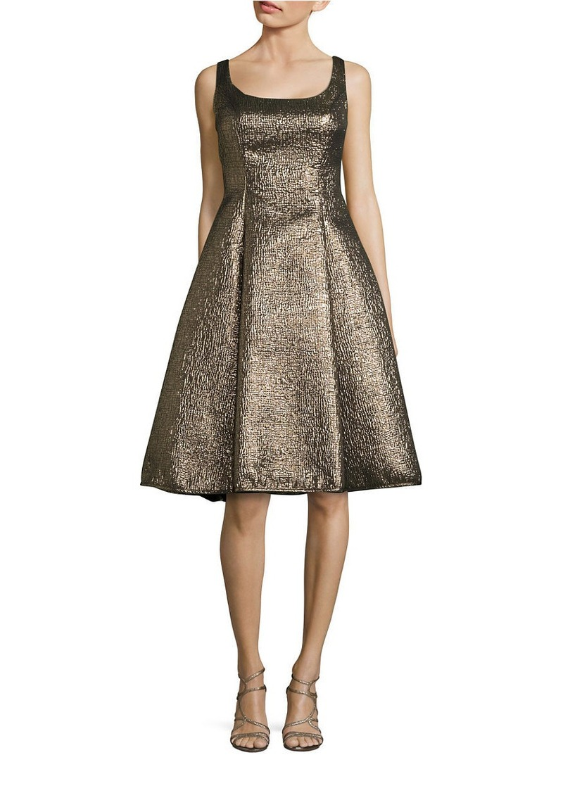 NICOLE MILLER NEW YORK Metallic Midi Dress