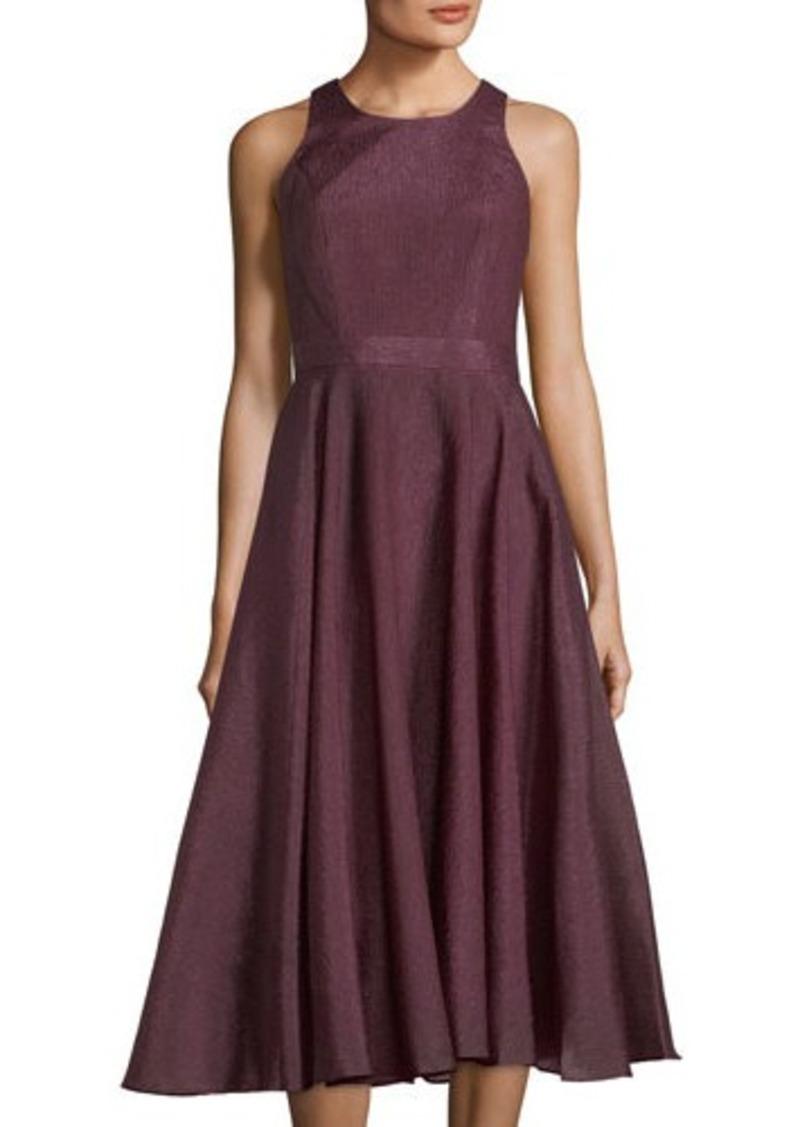 Metallic Tea Length Dress