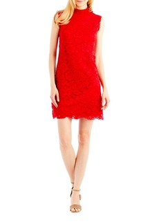 Nicole Miller New York Mockneck Lace Dress