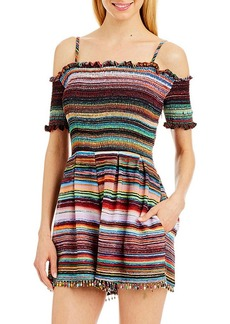 Nicole Miller New York™ Off-Shoulder Multicolor Romper