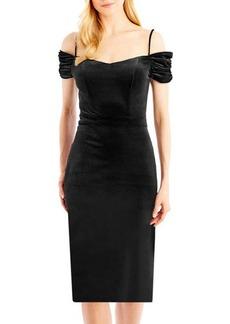 Nicole Miller New York Off-The-Shoulder Sheath Dress