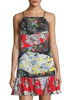 Nicole Miller New York Ruffle-Hem Print Dress