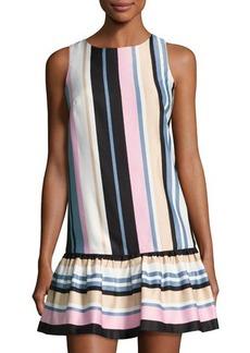 Nicole Miller New York Ruffle-Hem Striped Dress