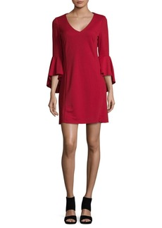 Nicole Miller New York Ruffle-Sleeve Sheath Dress