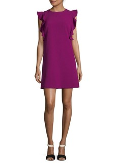 Nicole Miller Ruffle-Sleeve Shift Dress
