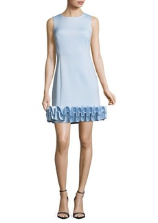 Nicole Miller New York Ruffled Shift Dress