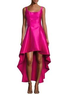 Nicole Miller New York Scoop-Neck High-Low Gown