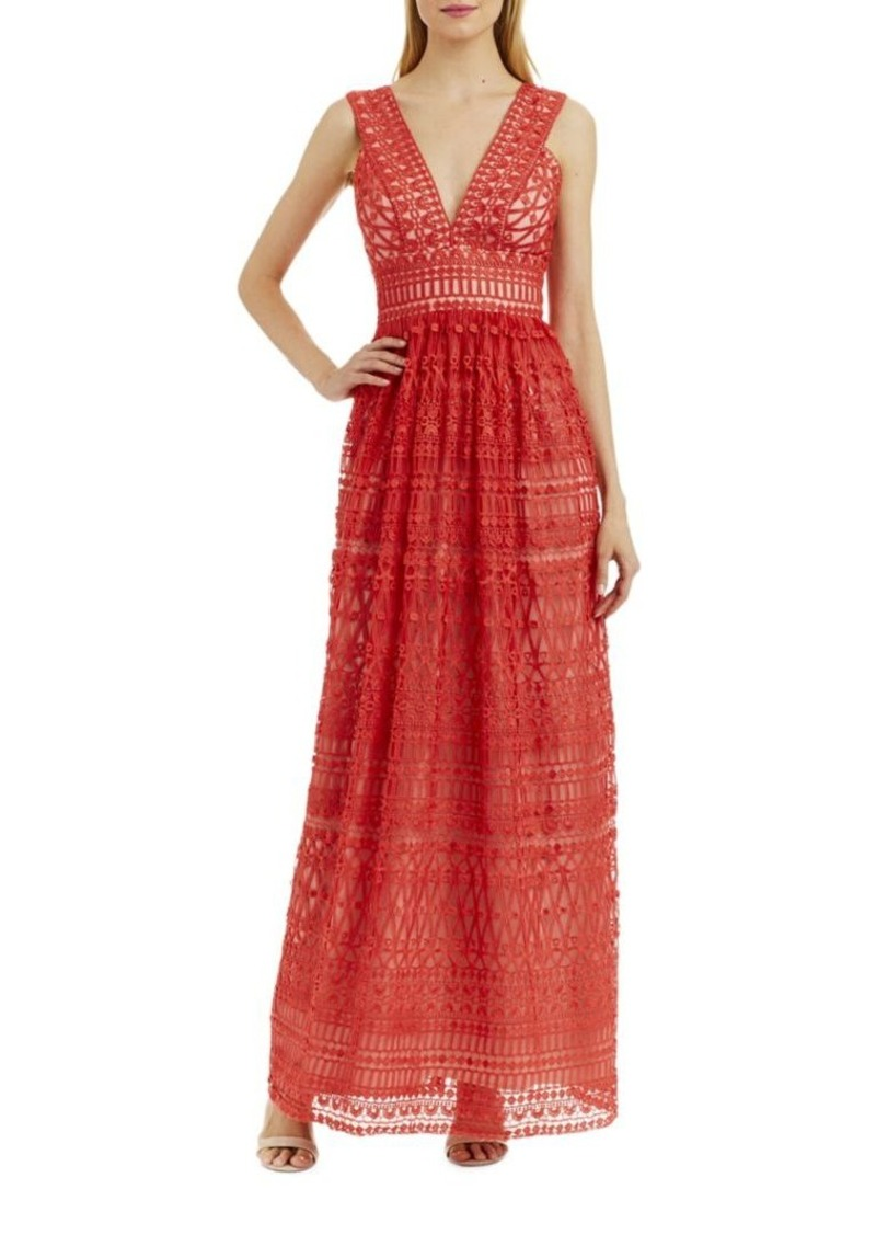 Nicole Miller Nicole Miller New York Semi-Sheer Lace Gown   Dresses
