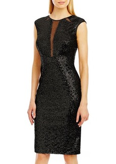 Nicole Miller New York Sequined Sheath Dress