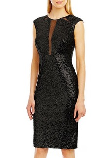 Nicole Miller New York Sequined Sheath Dress