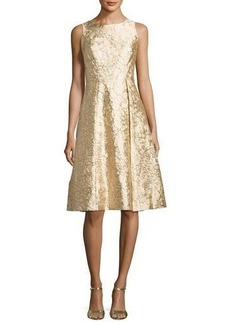 Nicole Miller New York Sleeveless Brocade Fit-&-Flare Cocktail Dress