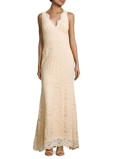 Nicole Miller New York Sleeveless Floral Scalloped Dress