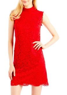 Nicole Miller New York Sleeveless Mock-Neck Lace Dress