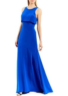 Nicole Miller New York Sleeveless Popover Georgette Gown