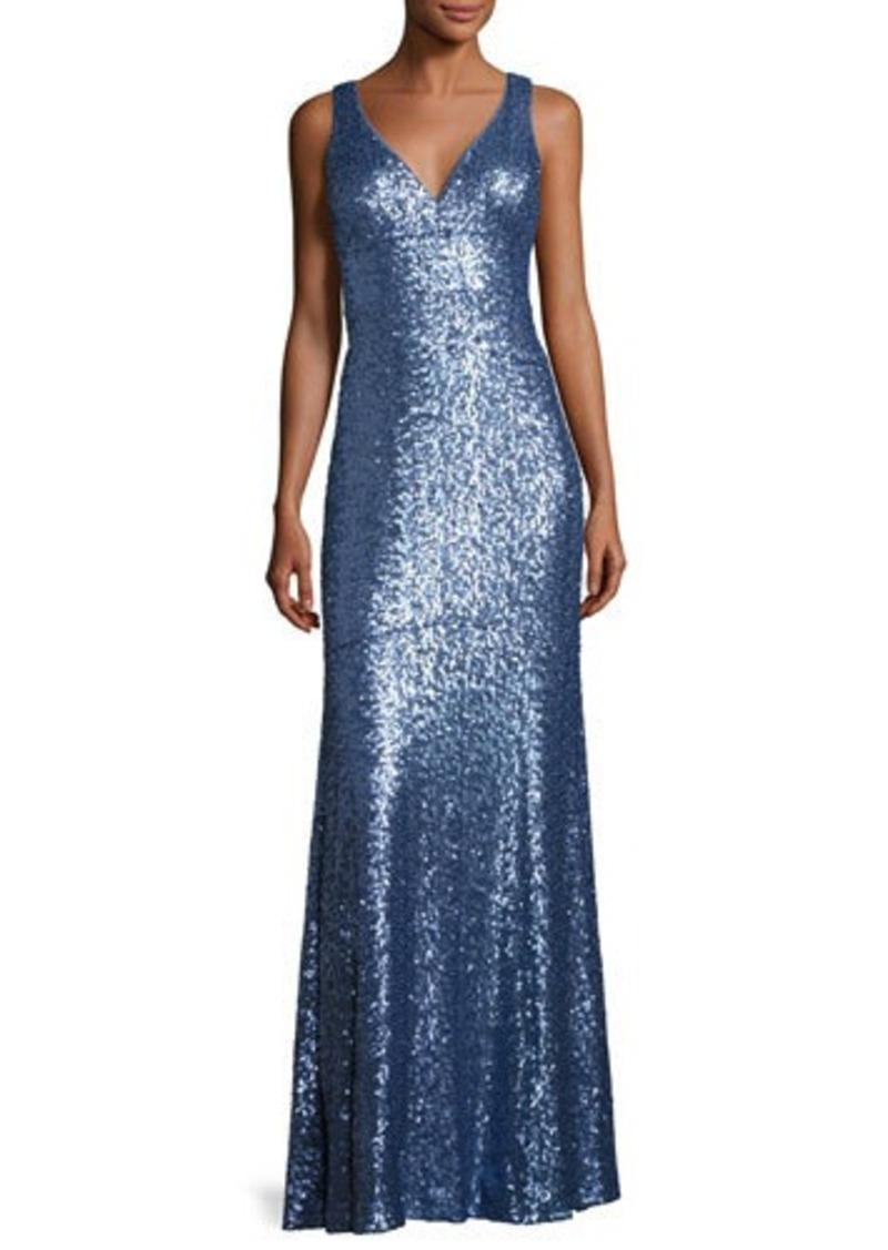 Nicole Miller Nicole Miller New York Sleeveless Sequin Column Gown ...