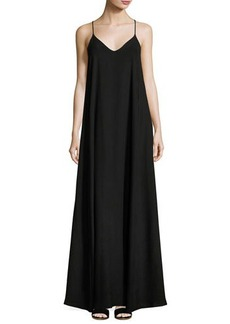 Nicole Miller New York Spaghetti-Strap A-line Maxi Dress