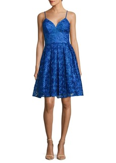 Nicole Miller Spaghetti Strap Fit-&-Flare Dress