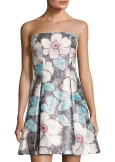 Nicole Miller New York Strapless Floral-Pint Dress