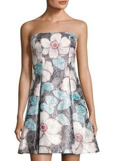 Nicole Miller New York Strapless Floral-Pint Dress
