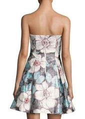 5a3fd58df6ca On Sale today! Nicole Miller Nicole Miller New York Strapless Floral ...