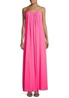Nicole Miller New York Strapless Soufflé Chiffon Gown