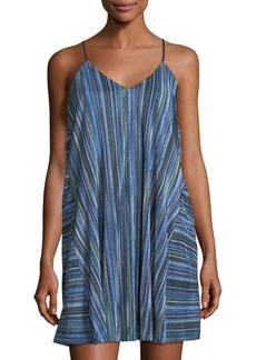 Nicole Miller New York Striped Sleeveless Slip Dress