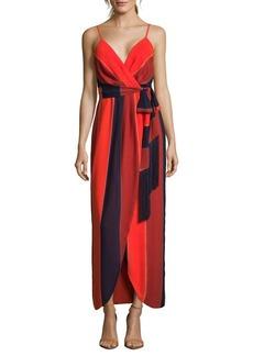 Nicole Miller New York Tri-Tone Wrap Dress