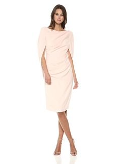 Nicole Miller New York Women's Drape Back Cape Sleeve Cocktail Dress
