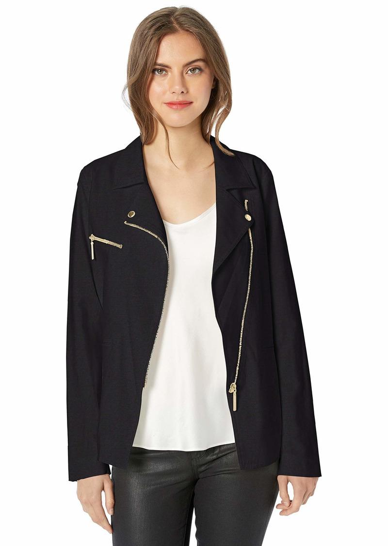 Nicole Miller New York Women's Draped Jacket black-00101