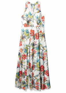 Nicole Miller New York Women's Faux wrap Gown with Back Bow