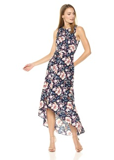 Nicole Miller New York Women's High Low Maxi Dress with Back Cut Out
